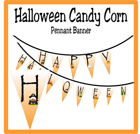 Candy Corn Pennant Banner Printable