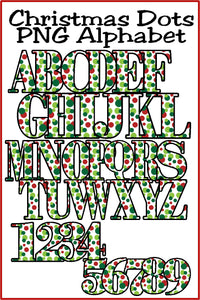 Christmas Dots Alphabet