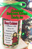 Countdown to Christmas with Bible Scriptures and Chocolate! This is a fun way to get yourself or your kids to read the story of the birth of Jesus and enjoy it as each scripture is on a Hershey mini candy bar wrapper.