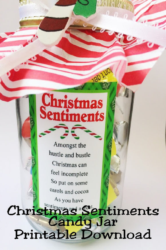 Give a fun and unique gift to everyone on your Christmas list with this Christmas Sentiment jar.