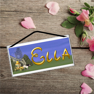 Cinderella's Coach Personalized Name Plaque