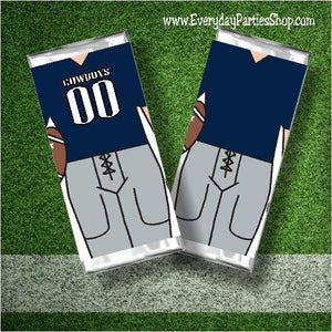 Cowboy Football Candy Bar Wrapper