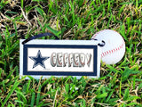 Cowboy Star Mascot Personalized Name Plaque