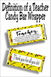 Teacher: a multi-tasking educational rock star who lives to inspire and loves to encourage. They're kind of a big deal.  Give your favorite teacher a yummy candy bar with this candy bar wrapper as a thank you gift for teacher appreciation week or at the end of school.  You'll be your teacher's favorite student with this cute teacher gift. #teachergift #teacherappreciationgift #teacherthankyou #candybarwrapper