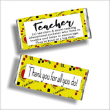 Definition of a Teacher Candy Bar Wrapper