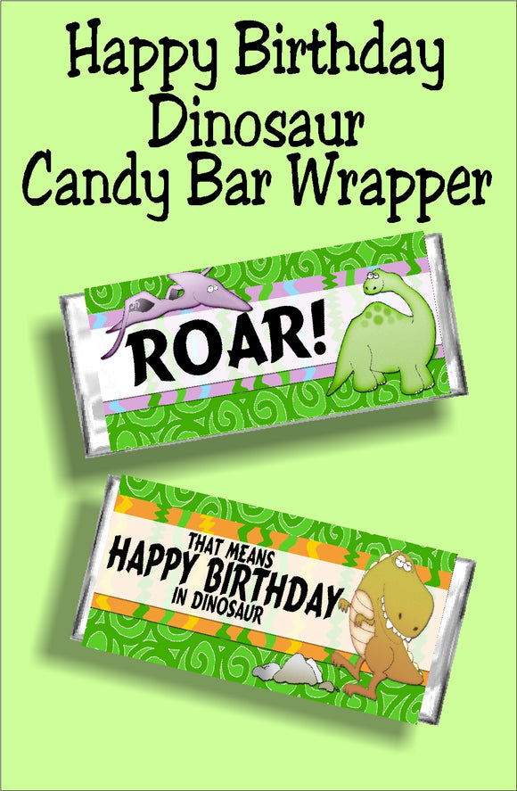 Roar!... that means happy birthday in dinosaur. What a fun birthday party favor or birthday card for the dinosaur lover this is.  It's not just a card, it's a card and a gift in one!