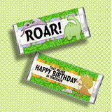 Dinosaur Birthday Candy Bar Wrapper