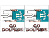 Dolphins Football Customizable and Printable Candy Bar Wrapper
