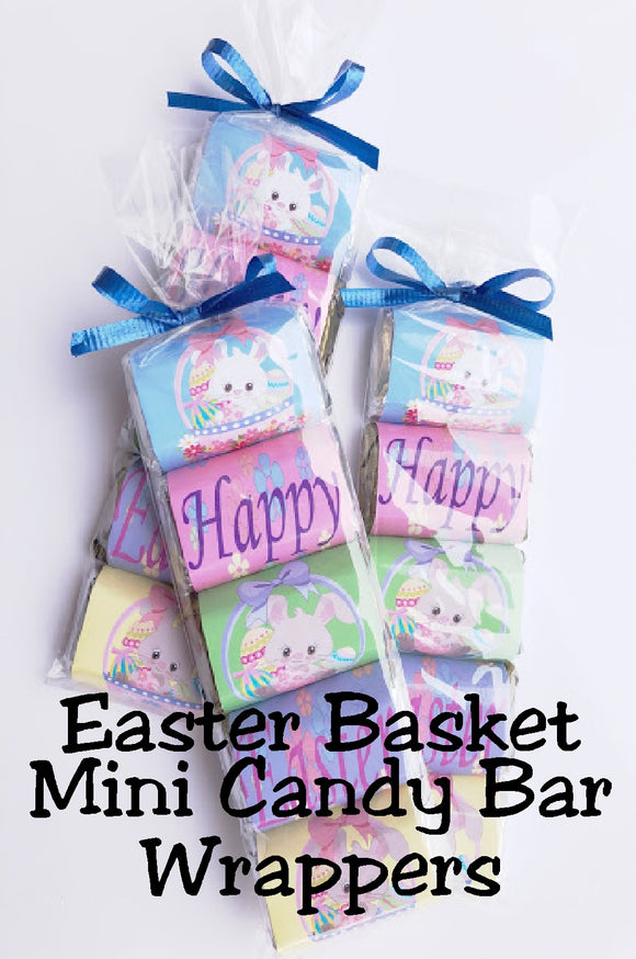 Bring a sweet treat to your Easter party with these beautiful Hershey miniature wrappers.  Wrappers are perfect to use as Easter party favors or in Easter baskets.