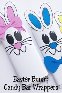 Celebrate Easter with some one you love by giving them this cute Easter bunny candy bar.  This candy bar is the perfect addition to an Easter basket or class party.