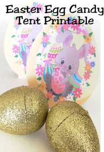 Make a super cute and easy party favor for your Easter party.  These candy tents are easy to put together and are a fun treat to give to your Sunday school class, your friends, or your kids.