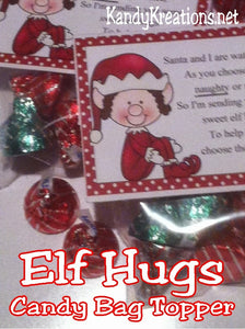 These printable bag toppers are the perfect gift for your Elf on the Shelf to bring to your little ones this Christmas. They will love the candy treat and the fun poem to help them to remember to be good at Christmas. This would also make a great Christmas party favor!