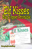 These Elf Kisses are so cute and perfect for my Elf on the Shelf to give the kids at Christmas. What a great party favor or treat these printables would be.