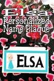 Elsa Personalized Name Plaque
