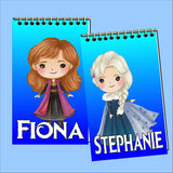 Frozen Personalized Mini Notebooks Set 2