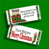 Family Christmas Candy Bar Wrapper