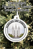 Celebrate families being forever with this Christmas ornament featuring your wedding picture and your favorite temple.  #familiesareforever #ldstemple #weddingornament #christmasornament