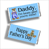 Beary Glad Father's Day Candy Bar Wrapper