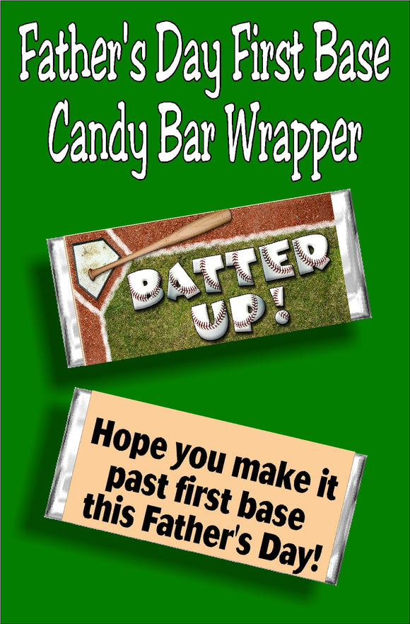 Don't just give a card, give a candy bar card.  Wish the man in your life a Happy Father's Day with this baseball themed candy bar card wrapper.  Candy bar will surely give your father a smile as he reads the wrapper and enjoys the chocolate after!