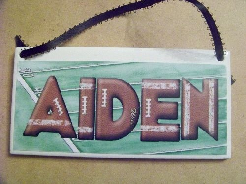 Football Field Personalized Name Plaque