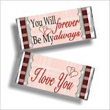 Forever and Always Valentine Candy Bar Wrapper Printable