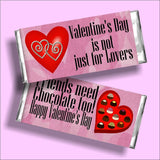 Friends Need Chocolate Valentine Candy Bar Wrapper