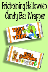 Have a frightening and fun Halloween when you give your friends and family this Halloween candy bar wrapper. This bar is a fun Halloween card, party favor, or treat for everyone in your group. #halloweencard #halloweencandy #candybarwrapper #halloweenparty