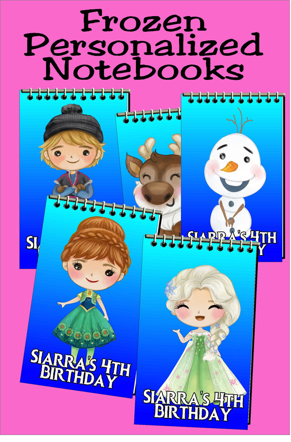 Frozen Personalized Mini Notebooks Set 4