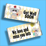 Get Well Soon Mouse Candy Bar Wrapper
