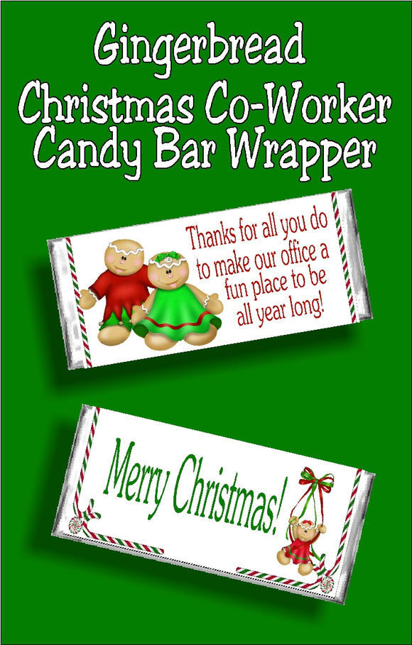 Wish your co workers a Merry Christmas with this fun printable candy bar wrapper. This wrapper makes a great Christmas card and office gift.