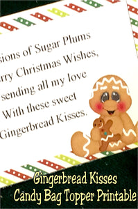 Gingerbread kisses are the perfect addition to your class party or as a yummy stocking stuffer.