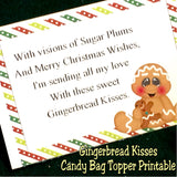 Gingerbread Kisses Bag Topper