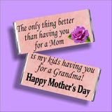 Grandma Mothers Day Candy Bar Wrapper