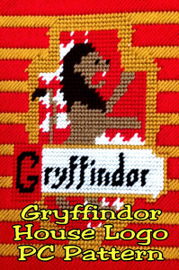 Show your Gryffindor House pride with this Harry Potter plastic canvas pattern. You can make anything you want with this logo, including place mats, banners, tissue boxes, and fun!