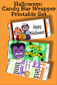 Get 13 fun Halloween candy bar wrapper printables, plus all future Halloween wrappers at one great price perfect for your Halloween parties, Halloween cards, and Halloween treats. #halloweencandy #halloweencandybarwrapper #halloweenparty #halloweencard