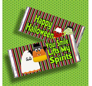 Halloween Spirits Candy Bar Wrapper