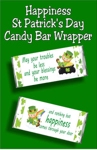 May your troubles be less and your blessings be more...and nothing but happiness comes through your door. This beautiful St Patrick's day candy bar is the perfect card for spreading some Irish cheer this March.