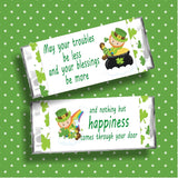 St Patricks Happiness Candy Bar Wrapper