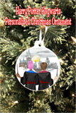 Hogwarts Couple Personalized Christmas Ornament