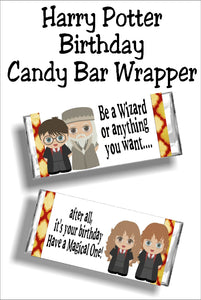 Wish your friends a Happy Birthday with this fun Harry Potter candy bar wrapper that works as both a card and a gift in one. #harrypotter #harrypotterbirthday #birthdaycard #candybarwrapper