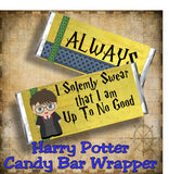 Harry Potter Up To No Good Candy Bar Wrapper Printable