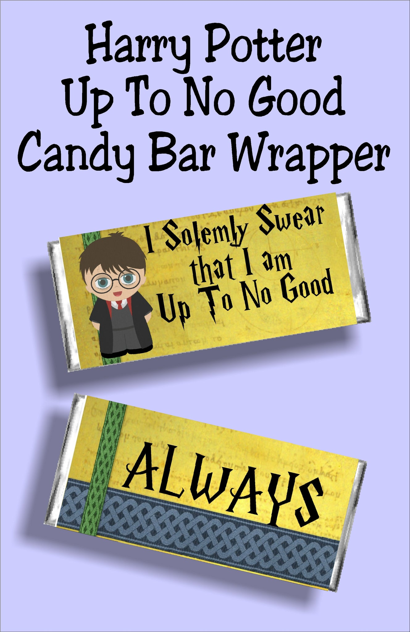 harry potter up to no good candy bar wrapper printable everydayparties