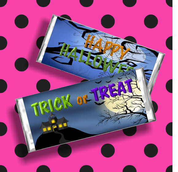 Haunted House Halloween Candy Bar Wrapper