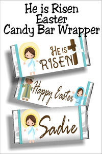 Remember the true reason for Easter and celebrate that Jesus Christ is the reason and has risen from the grave.  This candy bar wrapper is the perfect Easter card or Easter basket stuffer.  You can personalize it or just give to all your friends and family as is. #easterbasketstuffer #eastercard #religiouseaster