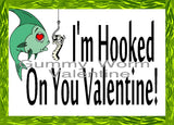 Hooked on You Printable Valentine Bag Topper