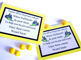 Show your house pride with these Hufflepuff house Wizard Seeds. These printablebag toppers are perfect for a Harry Potter party and are a unique and fun party favor.