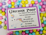 Unicorn Poop Bag Topper