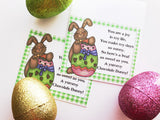 Chocolate Easter Bunny Bag Topper Printable