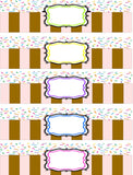 Sprinkles Ice Cream Topping Label Printables