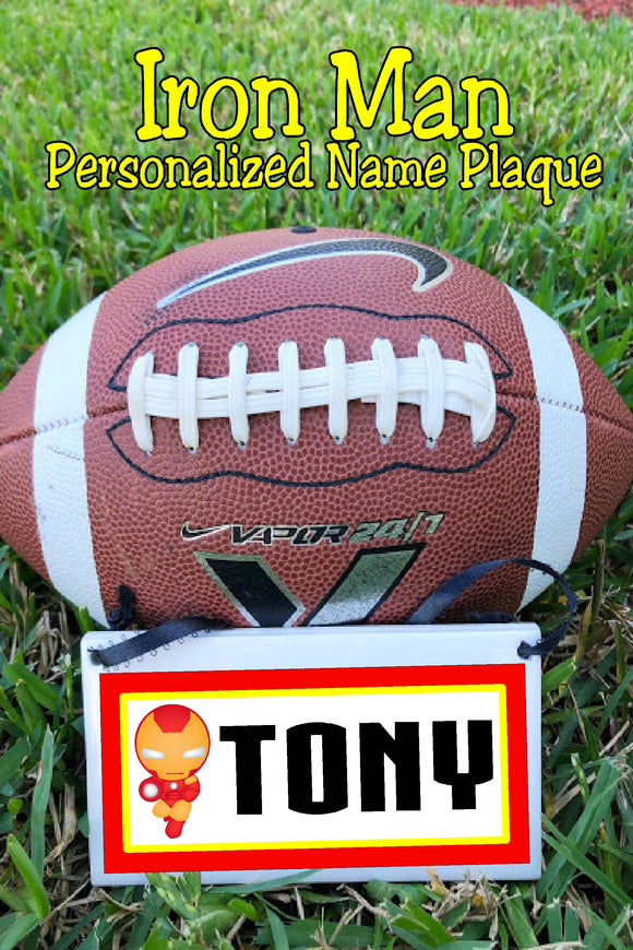 I am Iron man.   Share your love for your favorite superhero with this Iron man personalized name plaque perfect for your home decor or office.  #ironmangift #iamironman #personalizedgift